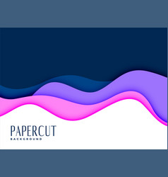 Stylish background of layred papercut concept vector