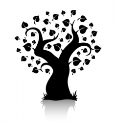 tree shape vector image