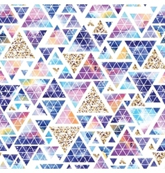 Triangular space design Abstract watercolor vector image