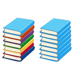 two stacks of thick books vector image