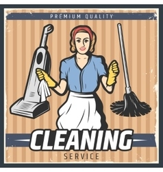 Vintage Cleaning Poster vector