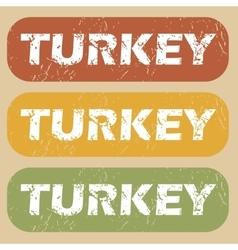 Vintage Turkey stamp set vector