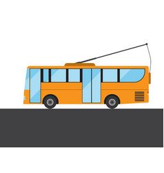 Yellow bus picture vector