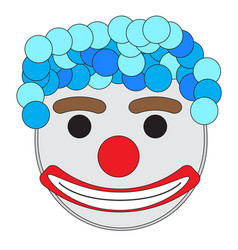 carnival clown mask vector image