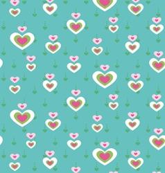 cute heart seamless pattern vector image