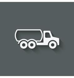 fuel truck symbol vector image vector image