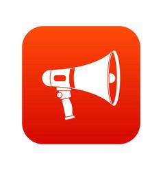 megaphone icon digital red vector image
