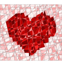 Mosaic with heart vector image
