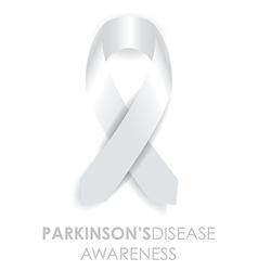 parkinsons disease ribbon vector image vector image