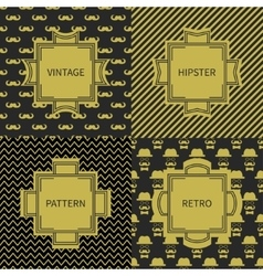 Set of gold hipster fashion geometric seamless vector image vector image