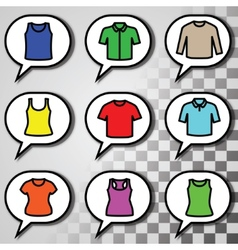 Set of t-shirts icon vector image vector image
