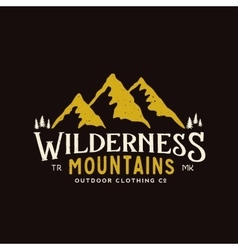 Wilderness Mountains Outdoor Clothing Vintage vector image