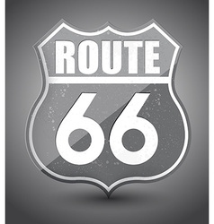 Black and white grunge route 66 sign vector image