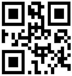 Black qr code says DISCOUNT vector image