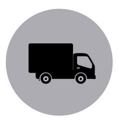 blue symbol delivery car icon vector image