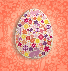 Egg back floral vector