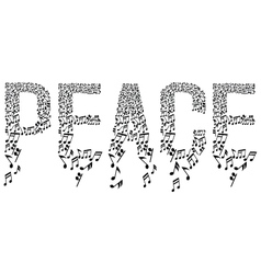 musical notes in peace vector image vector image