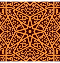 Arabian seamless pattern with a central star vector image vector image