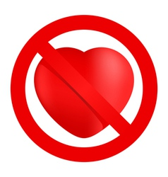 No loving sign vector image
