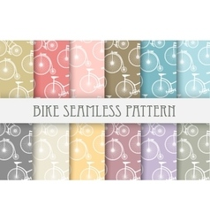 Set of backgrounds bicycle vector image