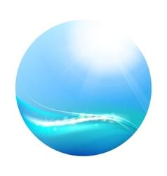 Shining blue vector image