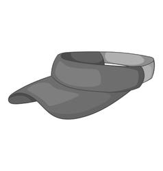 Sun cap icon gray monochrome style vector image