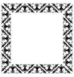 Baroque floral frame vector