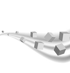 Grey cubes geometric background presentation vector image