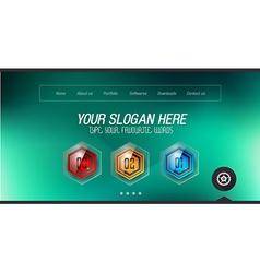 Minimal Website Home Page Design with Slider vector image