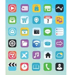 Set of flat icons for design vector image