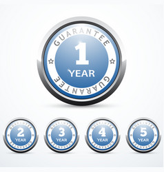 set of guarantee badges vector image