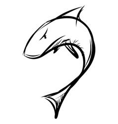 Shark isolated on white background vector image