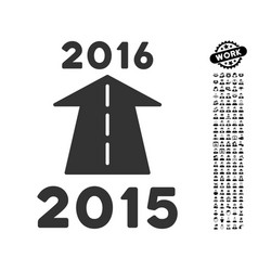 2016 future road icon with professional bonus vector image