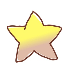 A twinkle star vector