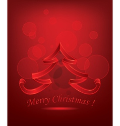 Abstract Red Christmas Tree vector image