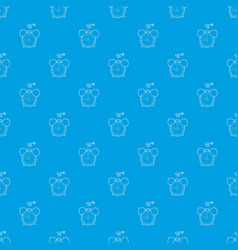 alarm clock pattern seamless blue vector image
