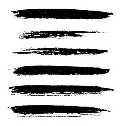 Artistic brushes set vector