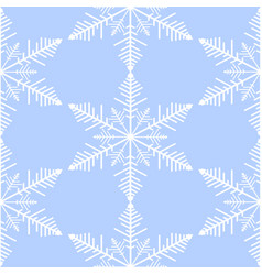 beautiful seamless pattern with snowflakes vector image