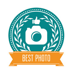 best photo badge - rating medal for photoservice vector image vector image