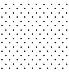 black seamless polka dots pattern vector image