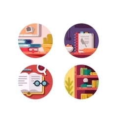 Books for education vector