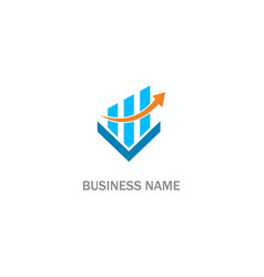 business arrow progress company logo vector image