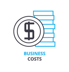 Business costs concept outline icon linear sign vector