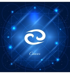 Cancer sign of the zodiac vector image