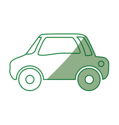 car vehicule draw vector image