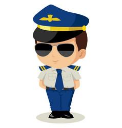chibi pilot vector image