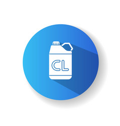 Chlorine disinfectant blue flat design long vector