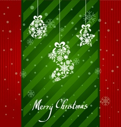 Christmas Greeting Card christmas items icons new vector image