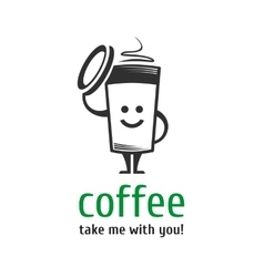 Coffee logo template vector image