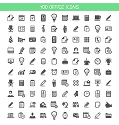Collection office icons vector